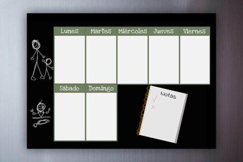 planificador escolar, planificador semanal escolar con imán