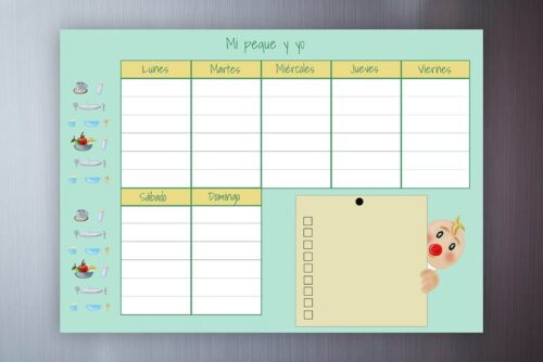 planificador semanal, planificador semanal familia
