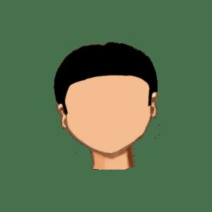 16. Redondo corto liso con patillas y sin flequillo