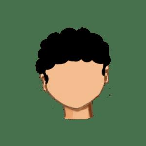 27. Corte redondo rizado con flequillo y patillas