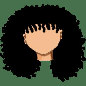 54. Largo rizado afro