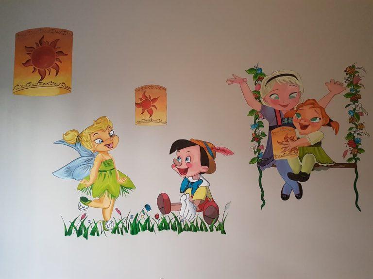 mural infantil en Alcorcón, mural pared en Alcorcón, mural pintado a mano en Alcorcón, personalización
